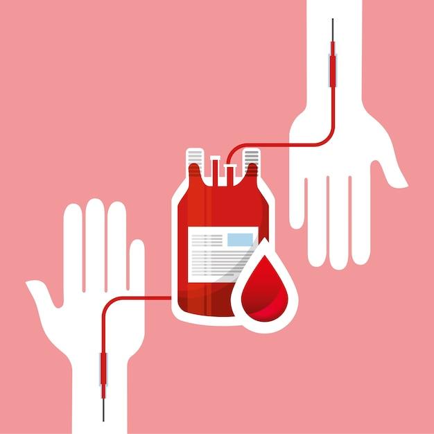 Le jour du don de sang Vecteur Premium