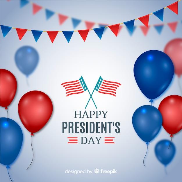 Jour du président Vecteur gratuit