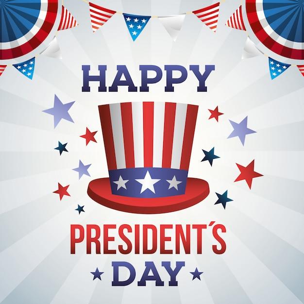 Jour Du Président. Vecteur Premium