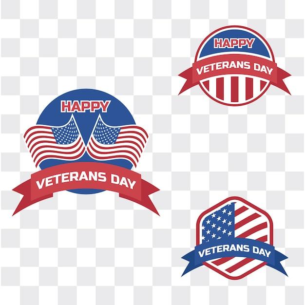 Jour du vétéran heureux pour le vétéran américain Vecteur Premium