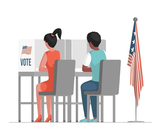 Jour De L'élection Aux états-unis D'amérique Illustration. Vecteur Premium