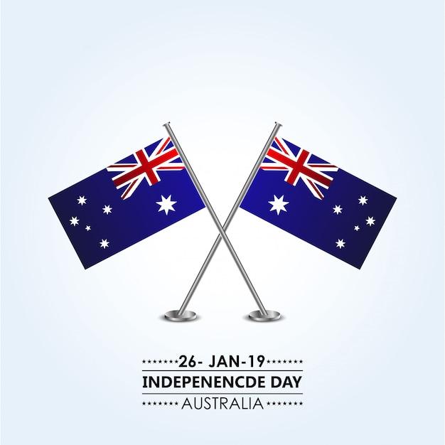Jour de l'indépendance de l'australie Vecteur Premium