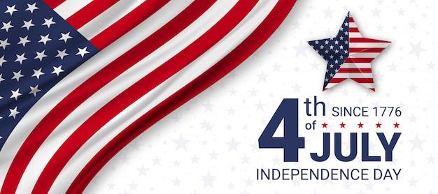 Jour De L'indépendance Du 4 Juillet Aux états-unis. Célébrations Du Jour De L'indépendance Aux états-unis D'amérique. Vecteur Premium