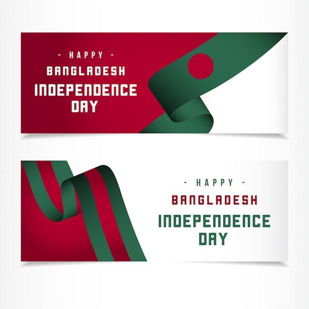 Jour De L'indépendance Du Bangladesh Vecteur Premium