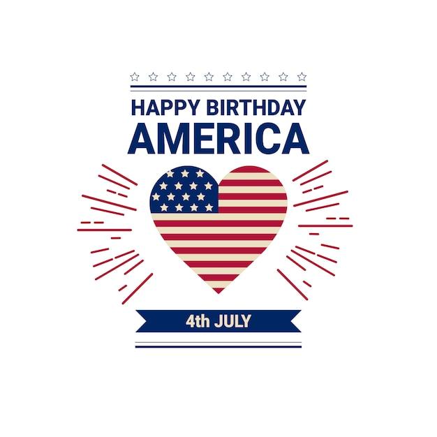 Jour De L'indépendance Du Drapeau Des états-unis Vecteur Premium