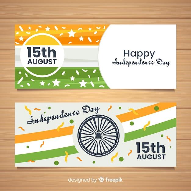 Jour de l'indépendance de l'inde Vecteur gratuit