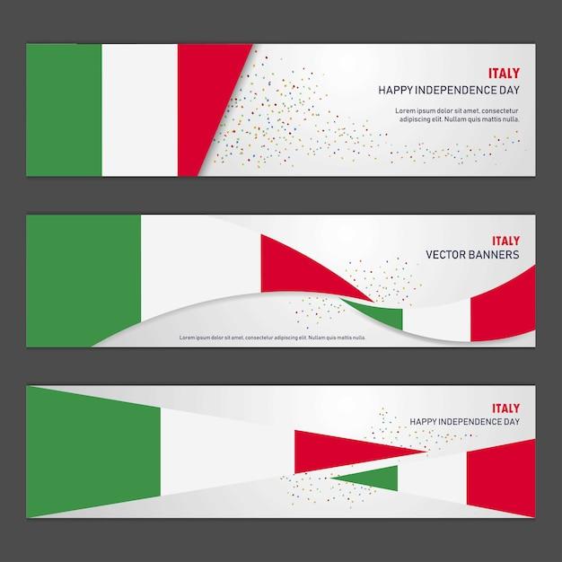 Jour De L'indépendance De L'italie Vecteur gratuit