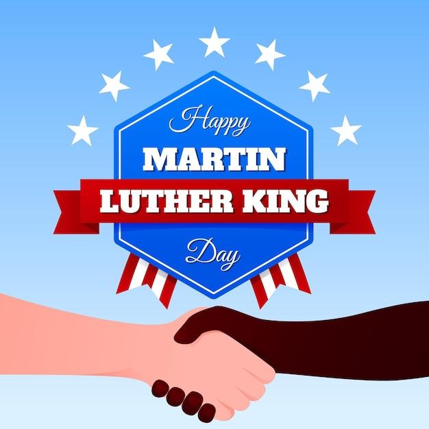 Jour De Martin Luther King Design Plat Vecteur gratuit