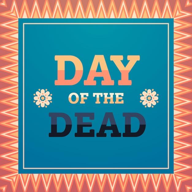 Jour de mort traditionnel mexicain halloween dia de los muertos fête fête décoration invitation carte de voeux plat Vecteur Premium