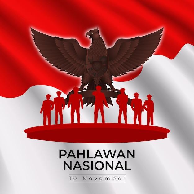 Jour Pahlawan Dégradé Vecteur Premium