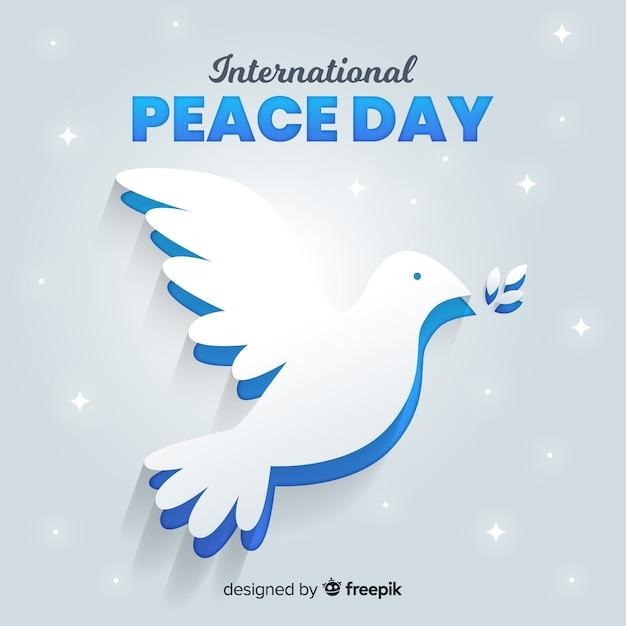 Jour De La Paix Internationale Avec Colombe Vecteur gratuit