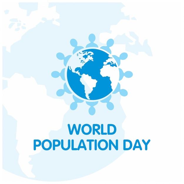 Jour de la population mondiale fond sommaire Vecteur gratuit