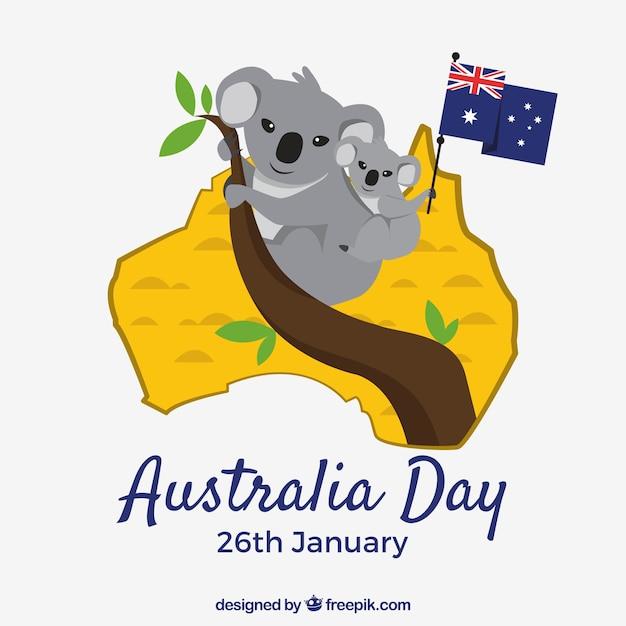 Jour république d'australie Vecteur gratuit