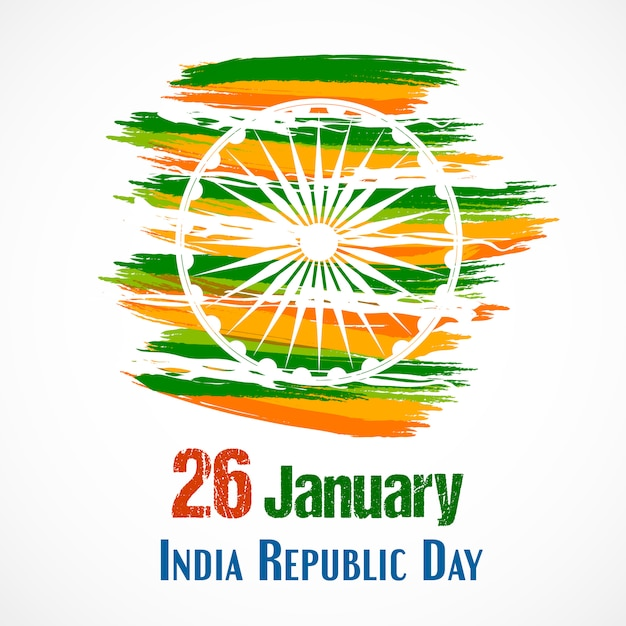Jour de la république de l'inde pour le 26 janvier. Vecteur Premium