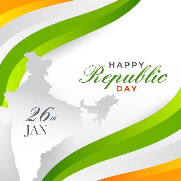 Jour De La République Indienne Design Plat Vecteur gratuit