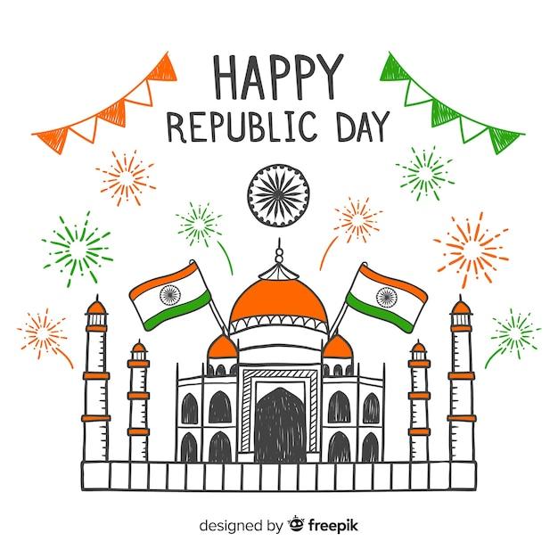 Jour de la république indienne Vecteur gratuit