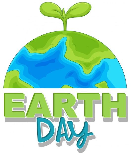 Un jour de la terre Vecteur gratuit