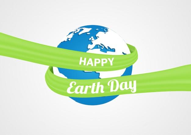 Jour de la terre Vecteur Premium