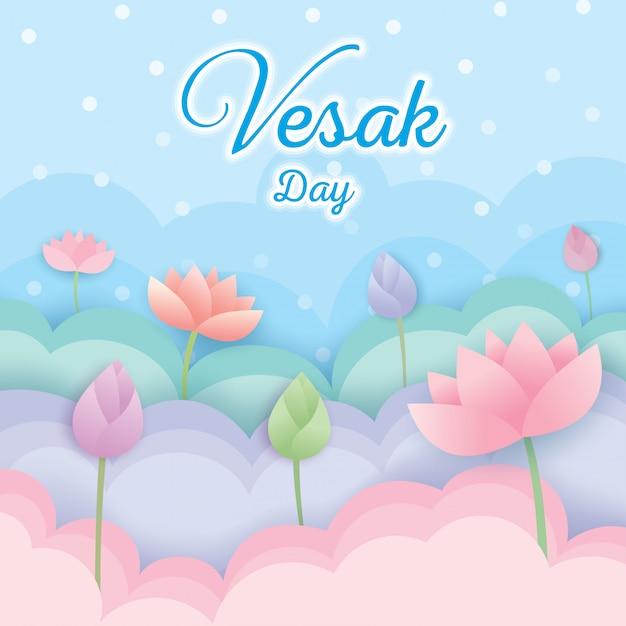 Jour De Vesak Vecteur Premium