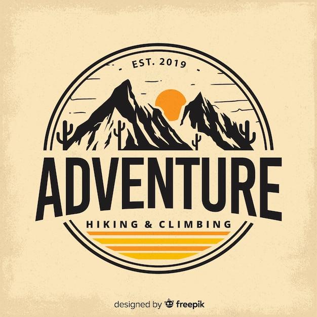 Journal d'aventure vintage Vecteur gratuit