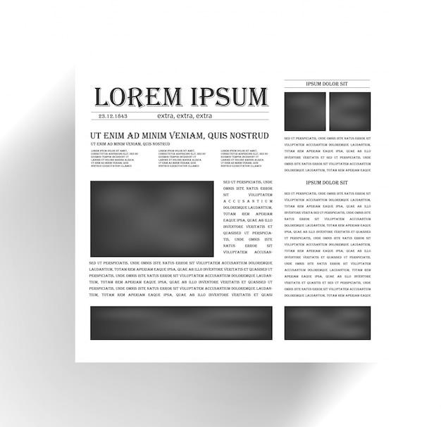 Journal Des Vecteurs Et Icône Des Nouvelles. Noir Vecteur gratuit