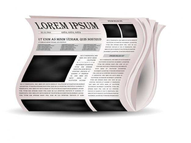 Journal des vecteurs et icône des nouvelles. Vecteur gratuit