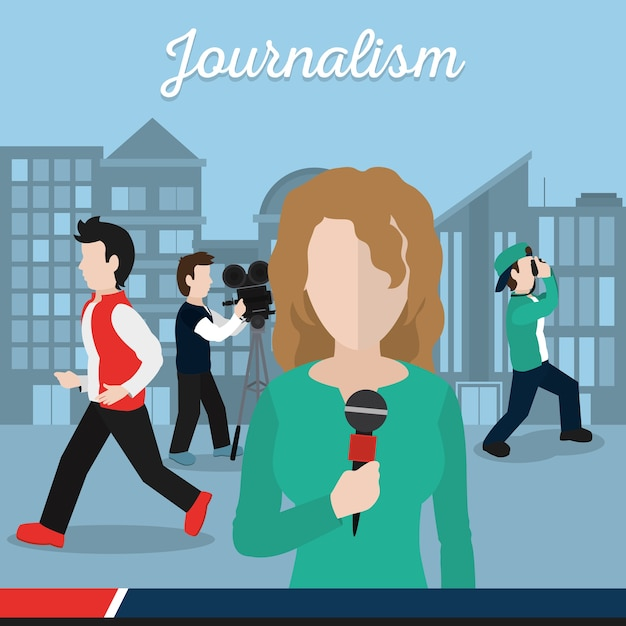 Journalisme Et Journaliste Vecteur Premium