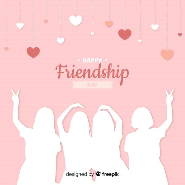 Journée de l'amitié design plat Vecteur gratuit
