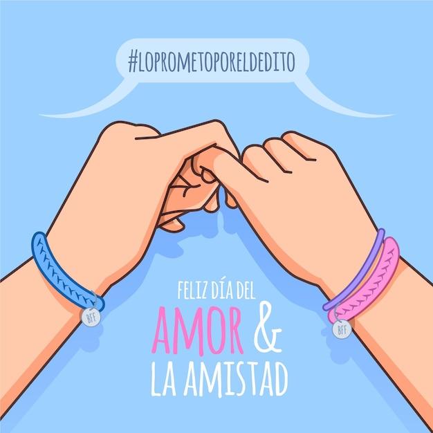Journée D'amour Et D'amitié Vecteur gratuit