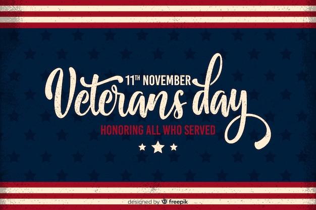 Journée des anciens combattants à la mémoire des personnes qui ont servi Vecteur gratuit