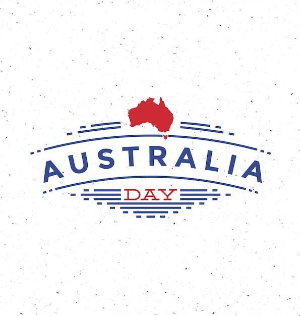 Journée australie - conception typographique avec demi-teintes Vecteur Premium