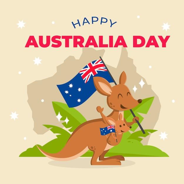 Journée Australienne Au Design Plat Vecteur gratuit