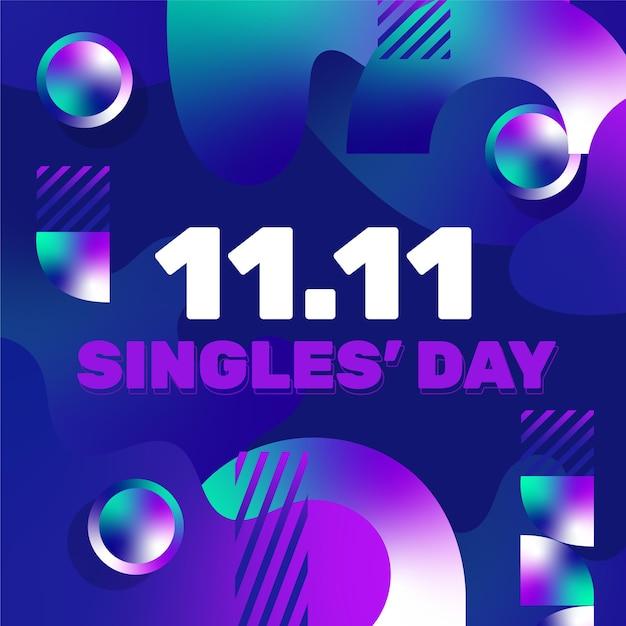 Journée Des Célibataires Dégradé Abstrait Vecteur gratuit