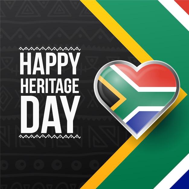 Journée Du Patrimoine Réaliste En Afrique Du Sud Vecteur gratuit