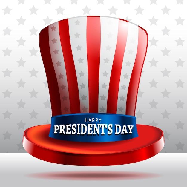 Journée Du Président Chapeau Réaliste Vecteur gratuit