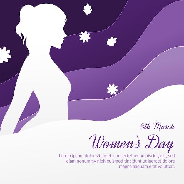 Journée De La Femme Dans Le Style Du Papier Vecteur gratuit