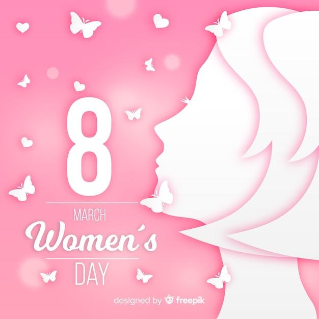 Journée de la femme dans le style de papier Vecteur gratuit