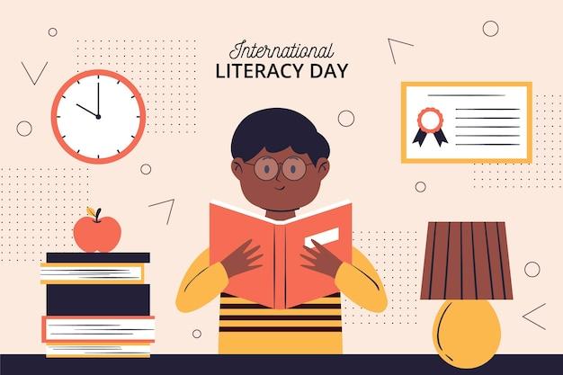 Journée Internationale De L'alphabétisation Vecteur gratuit
