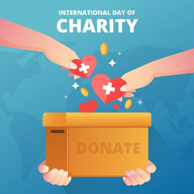Journée Internationale De La Charité Vecteur gratuit