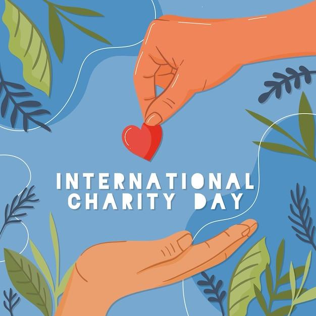 Journée Internationale De La Charité Vecteur Premium