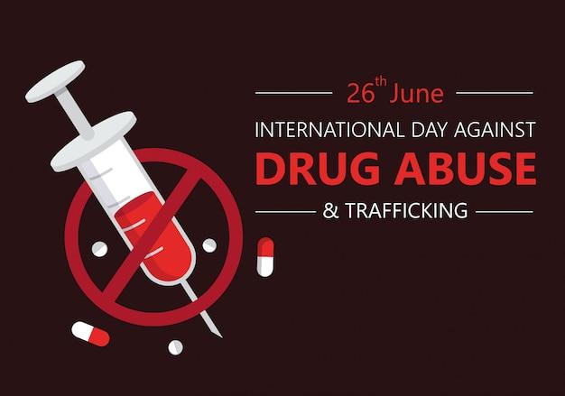 Journée Internationale Contre La Toxicomanie Vecteur Premium