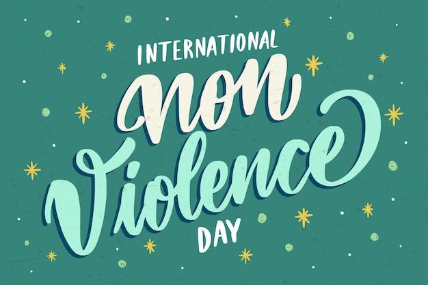 Journée Internationale Créative Du Lettrage De Non-violence Vecteur gratuit