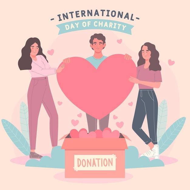 Journée Internationale Du Dessin De Charité Vecteur gratuit