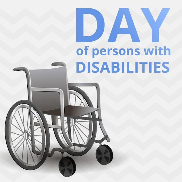 Journée Internationale Du Fond Des Personnes Handicapées, Style Cartoon Vecteur Premium