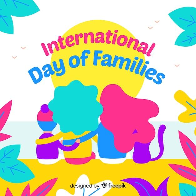 Journée Internationale De La Famille Vecteur gratuit