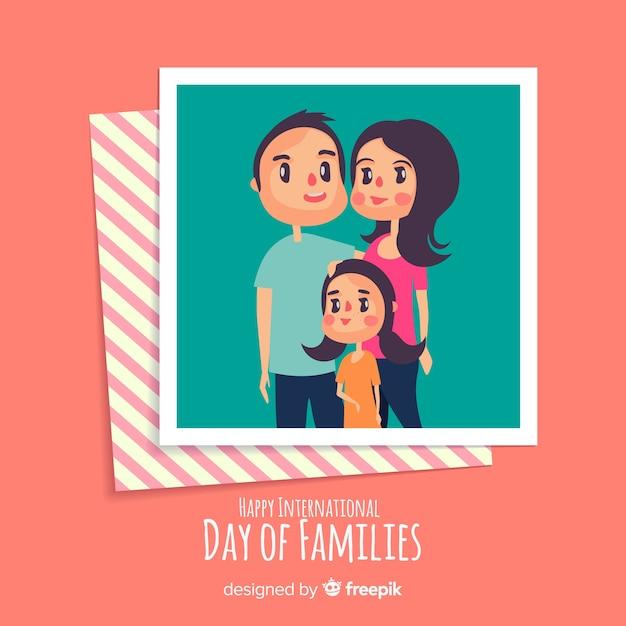 Journée Internationale Des Familles Vecteur Premium