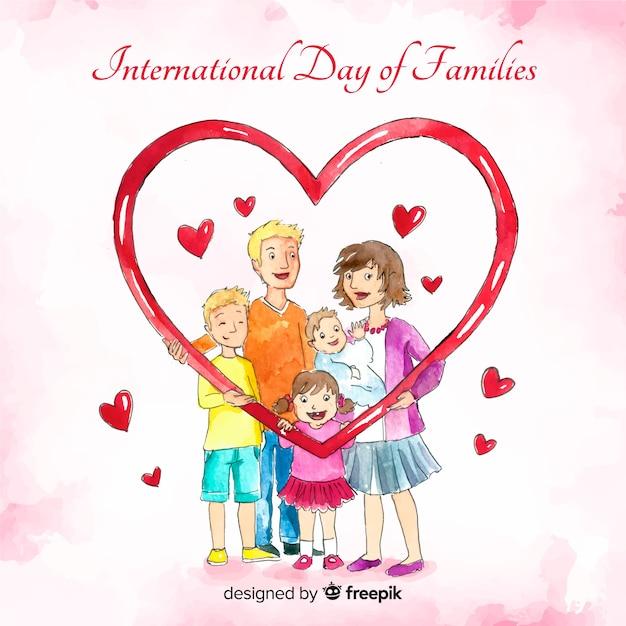 Journée Internationale Des Familles Vecteur gratuit