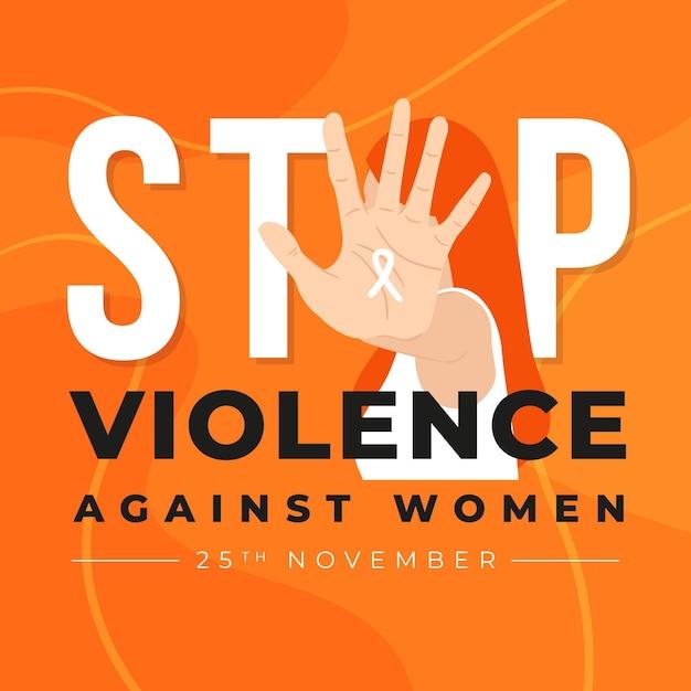 Journée Internationale Halte à La Violence à L'égard Des Femmes Vecteur Premium