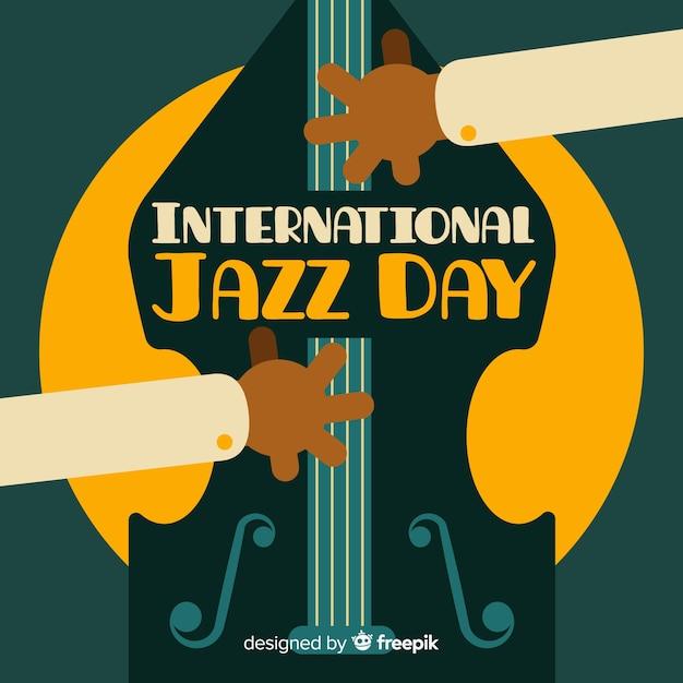 Journée internationale de jazz Vecteur gratuit