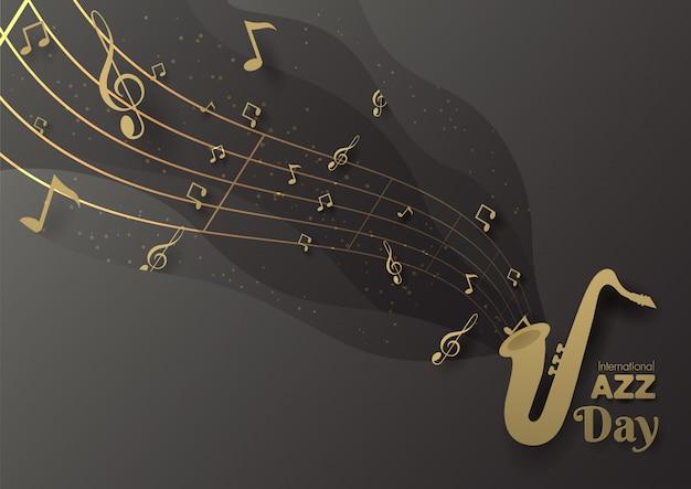 Journée internationale de jazz Vecteur Premium